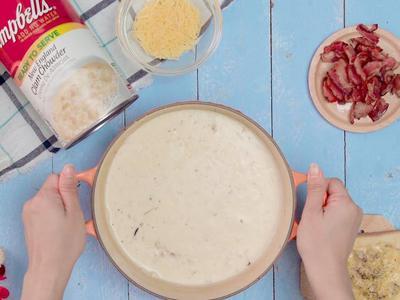 金寶蛤蠣濃湯&焗烤白醬吐司