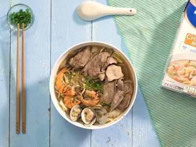 海陸什錦雞湯麵