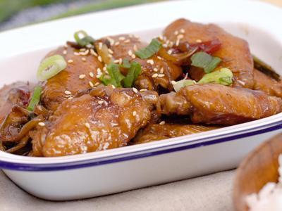 蔥燒可樂雞翅