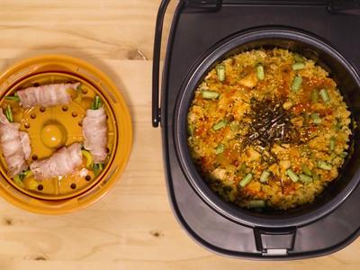 鮮蔬豬肉捲&泡菜燉飯