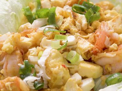 金沙蝦球豆腐