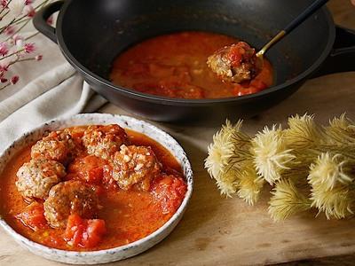 義式茄汁肉丸