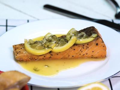 法式檸香鮭魚排