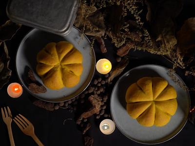 【萬聖節 Halloween】南瓜麵包